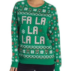 *FREEZE* Green Light-Up Ugly Christmas Sweater